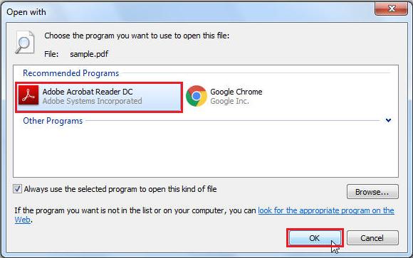 IRD : Default PDF viewer
